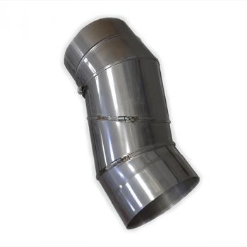 Колено поворотное (с регуляцией) из нержавейки 90°/180 мм