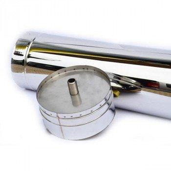 Конденсатосборник из нержавейки утепленный Ø 180/250 толщина стенки 0,5 мм сталь AISI(304/304)