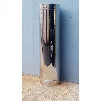Труба дымоходная утепленная из нержавейки Ø 150/220 толщина стенки 0,8 мм сталь AISI(309/201) длина 500 мм