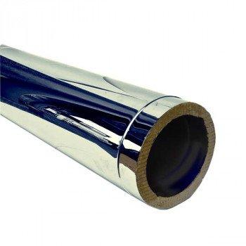 Труба дымоходная утепленная из нержавейки Ø 250/320 толщина стенки 0,8 мм сталь AISI(304/201) длина 500 мм