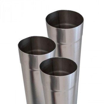 Труба дымоходная из нержавейки одностенная 0,6мм d 180мм h 500мм AISI316