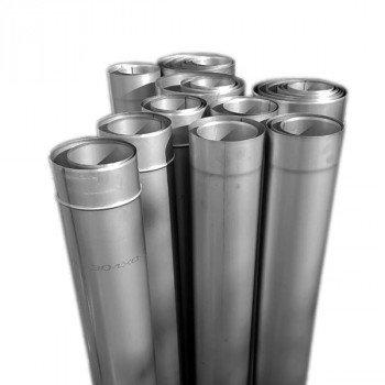 Труба дымоходная из нержавеющей стали одностенная Ø 120 толщина стенки 0.5 мм сталь AISI-201 длина 1000 мм