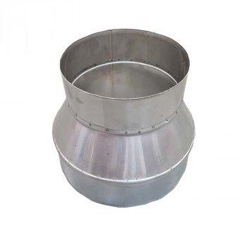 Верхушка конусная из нержавейки Ø110/160 толщина стенки 0,5 мм сталь AISI 304/201