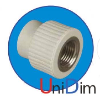 Переходник метал. резьба внутренняя 1/2 ASG-plast d 25 мм