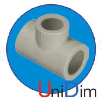 Тройник однозначный ASG-plast d75x75x75 мм