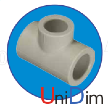 Тройник однозначный ASG-plast d90x90x90 мм