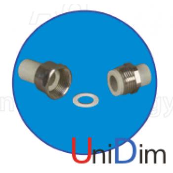 Разборное соединение труба - труба ASG-plast d25 мм