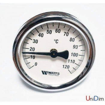 Термометр WATTS накладной F+R810 TCM 63mm 0-120°C *M