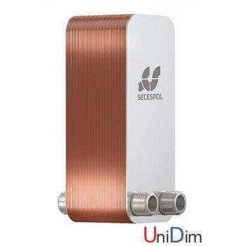 Пластинчатый паянный теплообменник Secespol LB31-150-2-1