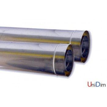 Труба дымоходная сэндвич нержавеющая утепленная 110/180 0,55 мм (304/304 базальт) 500 мм