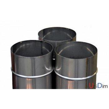 Труба дымоходная из нержавейки одностенная 0,8мм d 110мм h 1000мм AISI309
