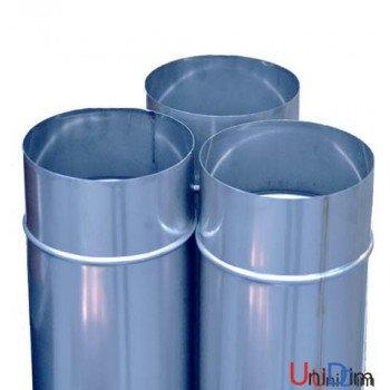 Труба дымоходная из нержавейки одностенная 0,6мм d 130мм h 1000мм AISI316