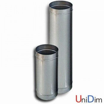 Труба дымоходная из нержавейки одностенная 0,6мм d 100мм h 1000мм