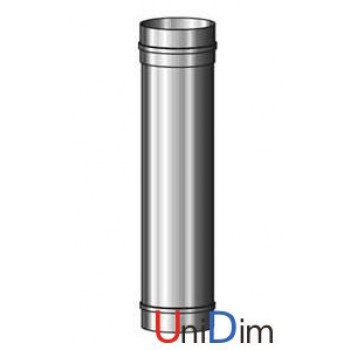 Труба дымоходная из нержавейки одностенная 0,8мм d 180мм h 500мм