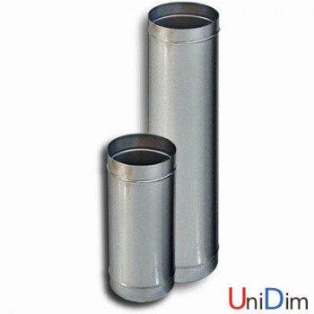 Труба дымоходная из нержавейки одностенная 0,6мм d 200мм h 1000мм