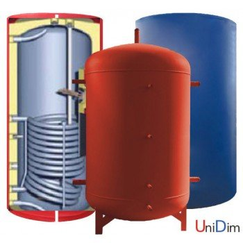 Бак аккумулятор горячей воды ЕАI-10-500 л (1 змеевик)