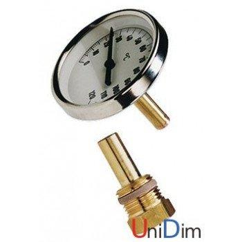 """Термометр WATTS погружной """"1/2"""" Ø 80 мм 0-120°С 99мм"""