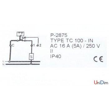 Погружной термостат для автоматического температурного регулирования WATTS TC100/AN