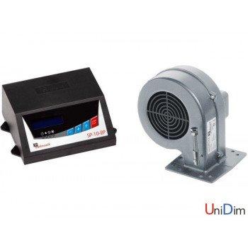 Комплект автоматики для твердотопливного котла KG Elektronik (контроллер SP-10 2P + вентилятор DP-02)