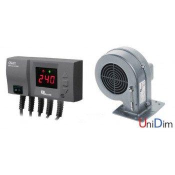 Комплект автоматики для твердотопливного котла KG Elektronik (контроллер CS-20 + вентилятор DP-02)