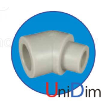Колено полипропиленовое ASG-plast 45° внутреннее/наружное d 20 мм