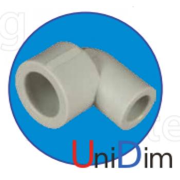 Колено полипропиленовое ASG-plast 90° внутреннее/наружное d 20 мм