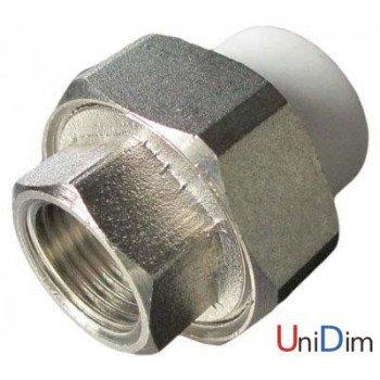 Резьбовое соединение внутреннее (американка) 1/2 ASG-plast d20 мм