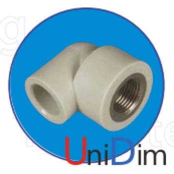 Колено с металл. резьбой внутренней 1/2 ASG-plast d 25 мм