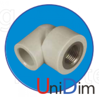 Колено с металл. резьбой внутренней 3/4 ASG-plast d 25 мм