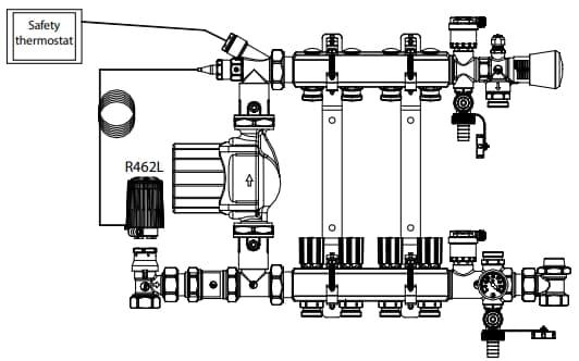 Giacomini R462 термоголовка монтаж на коллектор.