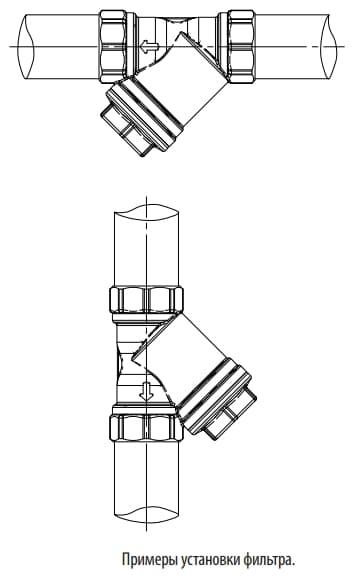 Giacomini R74A фильтр сетчатый