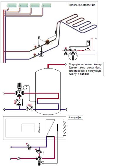 Применение 3-х ходового клапана ГЕРЦ CALIS-TS-RD