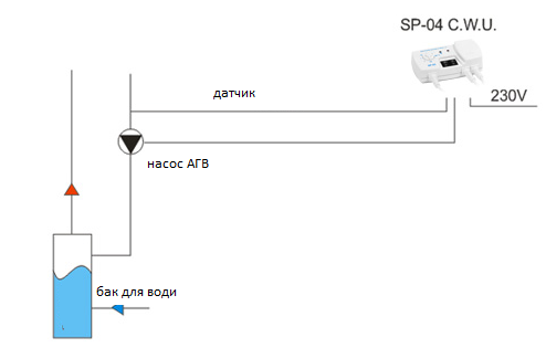 Схема подключения терморегулятора KG Elektronik SP-04