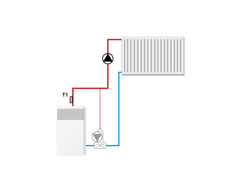 Схема установки контроллера TECH ST-21