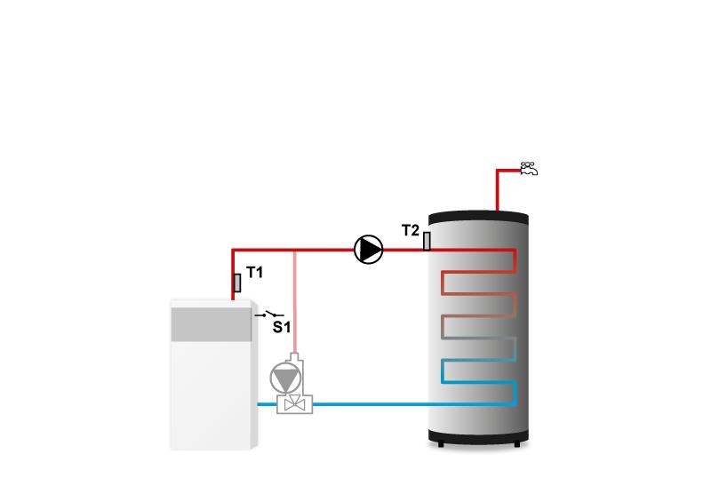 Схема установки контроллера TECH ST-21 CWU