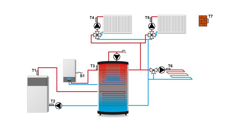 Схема контроллера отопления TECH ST-409n.