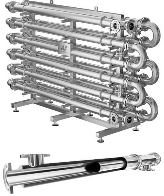 Труба из под теплообменников Кожухотрубный теплообменник Alfa Laval ViscoLine VLM 7x16/70-6 Балашов