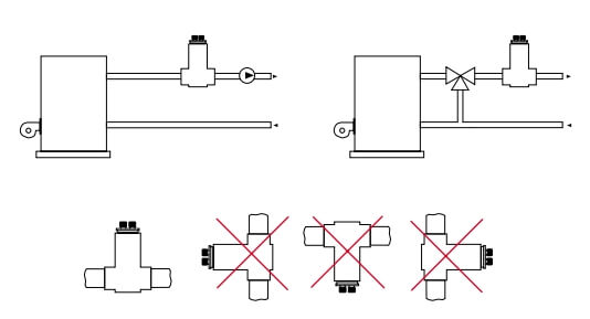 Деаэратор для отопления WATTS ERD схема установки.