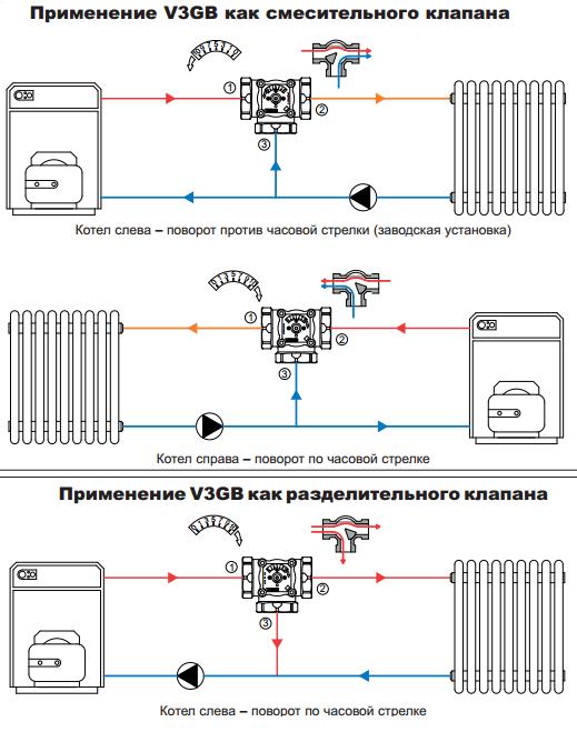 Схема подсоединения Watts V3GB
